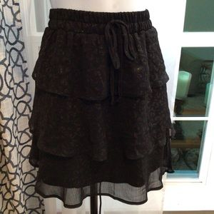 Francesca's Ruffle Mini Skirt